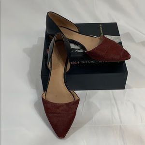 Madewell Flats Wine and Black Size 9